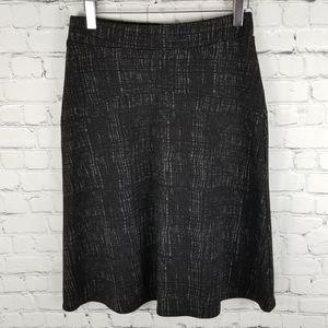 DELLA SPIGA   stretch a-line  thatch pattern skirt